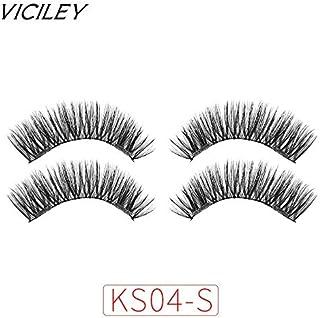 89bf530da46 LUCILAS Magnetic False Eyelashes Handmade Reusable Fake Lashes 0,4x0,6 inch  Synthetic 6D