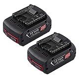 Topbatt 2X 18V 5.5Ah Batería de repuesto para Bosch Li-ion BAT609 BAT609G BAT610G BAT618G BAT619...