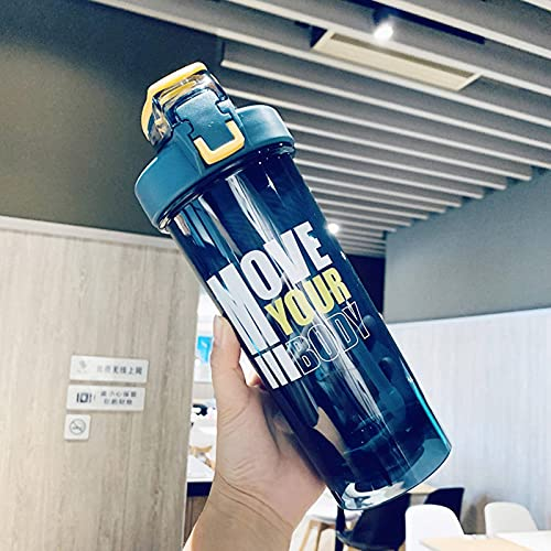 N\C Locking Straw Cup For Gym Sports To Prevent Accidental Opening of The Shaker 800ml Large-Capacity Sports Water Cup