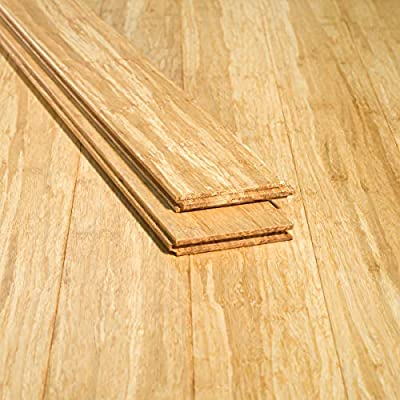 Ambient Bamboo - Bamboo Flooring Sample, Color: Natural, Solid Strand Tongue and Groove