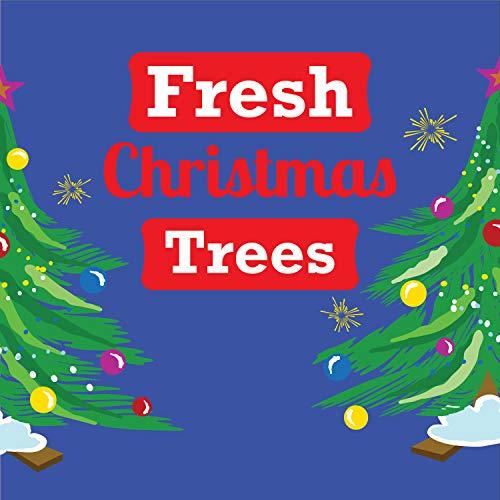 Cartel de árbol de Navidad de corte fresco, vinilo resistente de 325...
