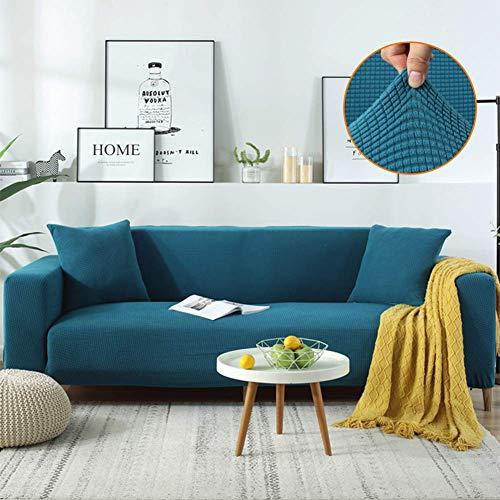 JPL Funda de sofá de alta elasticidad Funda de sofá en forma de L Protector de muebles Funda de sofá de terciopelo antideslizante Funda de sofá de esquina elástica Fundas de sofá-Sofá de dos plazas v