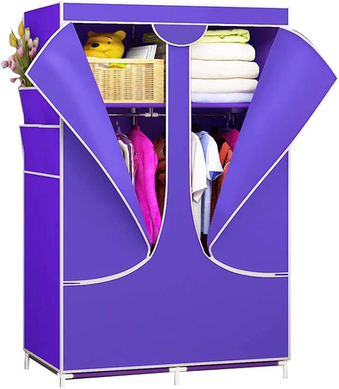 Hai Yan Boutique Cloth wardrobe Cloth wardrobe-Simple assembly wardrobe, single college dormitory, bold steel pipe, zipper fully enclosed double door, modern minimalist wardrobe dustproof simple stain