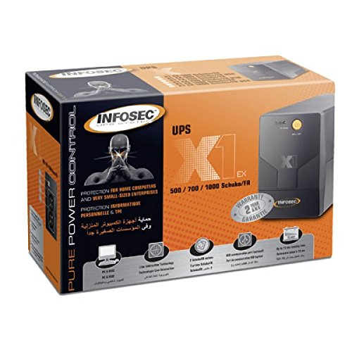 X1 EX 1000 FR/SCHUKO, ononderbroken stroomvoorziening, Infosec - 65955