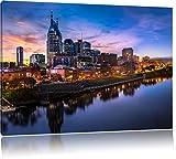 Nashville Skyline Panorama, Format: 60x40 auf Leinwand, XXL