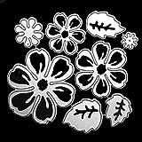 OOTSR Troqueles de corte de flores, Plantillas de corte de metal con diseño de flor 3D para Scrapbooking/Relieve/Álbum de fotos Decor/DIY Craft/Gifts