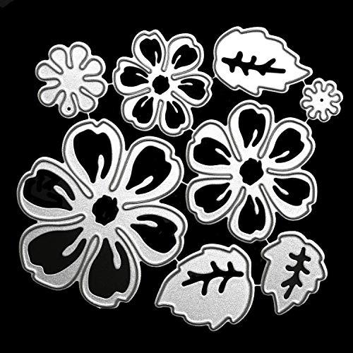 OOTSR Troqueles de corte de flores, Plantillas de corte de metal con diseño de flor 3D...