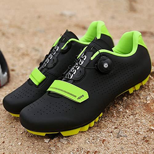 Zapatillas Bicicleta Carretera, Zapatillas Ciclismo Para Hombre, Zapatillas CóModas Primera Calidad, Con Tacos, Zapatillas Spd Para Hombre, Zapatillas Ciclismo Carretera Para Interior F-UK 4=EU 38