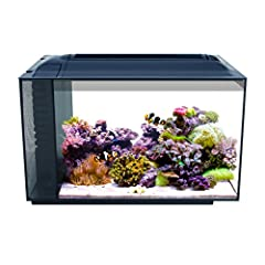 13.5 gallon glass aquarium for saltwater fish Stylish honeycomb design concealsrearaquarium filtercompartment and aquarium water linewhile looking ultra modern Powerful 3 stage filtration with oversized mechanical, chemical, and biological Fluval...