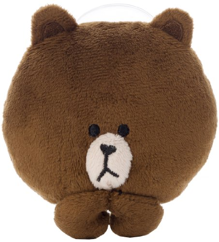 LINE CHARACTER sucker-equipped mobile stand Brown (japan import)