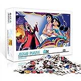 Póster de dibujos animados de rompecabezas de madera: Aladdin 300pc Jigsaw Puzzle 15x10inches Puzzle Juegos educativos para la decoración del hogar