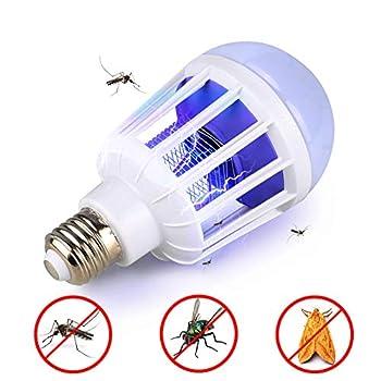 POOPFIY Ampoule de Tueur de Moustique de 220V LED E27 / Ampoule de B22 LED, insectifuge électronique d'ultrason de ménage de répulsif de Moustique,15w