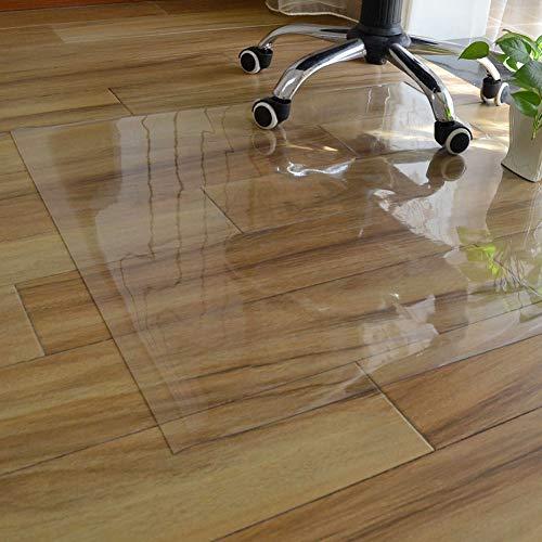 Xpnit - Protezione per pavimenti in PVC trasparente, antiscivolo, resistente all'usura, rettangolare, da mettere sotto una sedia