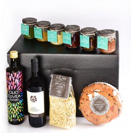 Cesto Pasquale o Natalizio Liguria Golosa: cesto pasquale o natalizio regalo con Prodotti Tipici Liguri Gourmet della nostra azienda agricola