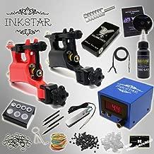 Complete Tattoo Kit Inkstar Journeyman Rotary Machine Gun Power Supply Radiant Colors Professional Black Ink