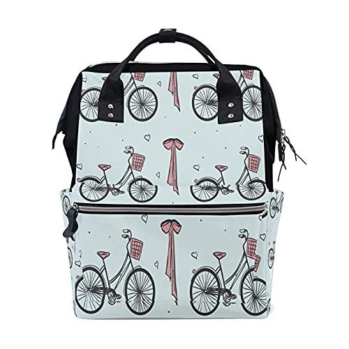 LDIYEU Bicicleta Vintage Paris Bolsa Compra Reutilizables Bolsas de Mano para Trabajo...