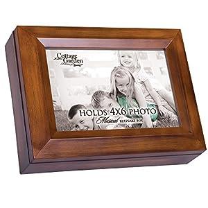 Cottage Garden 4 x 6 Photo Frame Woodgrain Music Box Plays You are My Sunshine