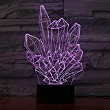 Dengjiam Cristal 3D Led Lampe Lumière Usb Veilleuse Colorée Lampe De Lave Pour Mariage Décor Enfants Cadeau De Noël Présent