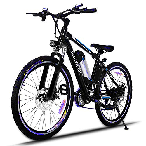 ANCHEER 2019 Upgraded Electric Mountain Bike, 250/500W 26'' Electric Bicycle with Removable 36V...