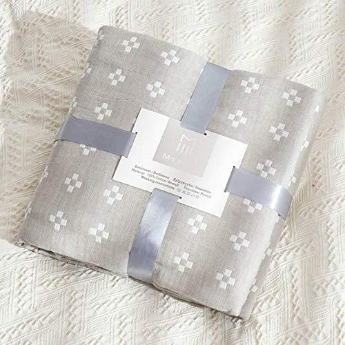 Baumwolle Gaze Musselin Sommer Klimaanlage Tagesdecke Decke fürSchlafsofa Kinder Erwachsene Bettwäsche Bettdecke Weiche Tagesdecke, Kamel, 200x230cm