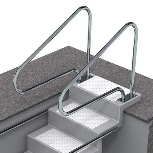 SAXONICA Pool Griffbogen/Treppenhandlauf aus V2A-Edelstahl poliert