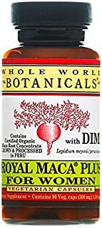 Whole World Botanicals, Royal Maca Plus For Women, 550 mg, 90 Veggie Caps by Whole World Botanicals