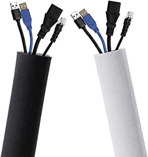 Cable Tube 100x13.5cm Universal Cable Duct Cable Management Sleeves Neoprene Cable Guide Flexible Cable Wrap Cover Wire Hi...