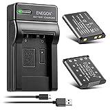 ENEGON NP-45 NP-45A NP-45B NP-45S Batería (Paquete de 2 de 1200mAh) y Kit de Carga de LCD Compatible con Fujifilm INSTAX Mini 90, FinePix XP20 XP22 XP30 XP50 XP60 XP70 XP80 XP90 XP120 T350 T500 T510