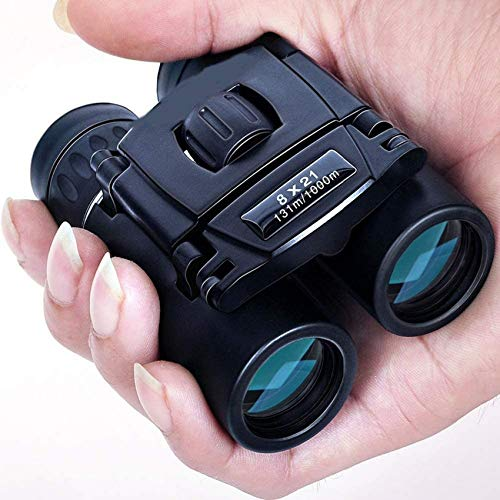 GYCS Binoculares para niños 8X21 Paul Camo Binoculares compactos Impermeables Bak4 FMC Optics HD Zoom Mini telescopio para Viajes Camping Senderismo Caza Concierto Observación de Aves