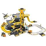 NEWRICE - Set di giocattoli per parcheggio, con luci e suoni, 1elicottero+6 pezzi in metallo pressofuso per auto, pista, garage, lift.for 3-6 anni ragazzi e ragazze/bambini