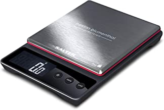Heston Blumenthal Precision Kitchen Cooking Scales by Salter, Weigh Food up to 5kg Within 0.5g Accuracy, Digital Display, Measure in Metric/Imperial Weight, 15yr Guarantee – Black/Silver
