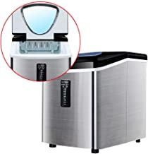 Automatic Electric Ice Maker, Mini Bullet Round Ice Making Machine 18Kg/H Intelligent Ice Maker for Bar Coffee Milk Tea Shop