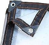 Lona Impermeable Transparente de 3 pies x 7 pies, Lonas Transparentes, Resistente al Agua, Cubierta de Lona de Polietileno, Cubierta de Lona Transparente de 5 mil con Ojales, para Techo, CAM