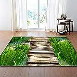 Alfombra,Teppich,Soft Velvet Carpet For Living Room Path In Forest Pattern Modern Design Anti-Slip Area Rug Kid's Bedroom Floor Pad Nursery Play Mat Porch Doorway Carpet Runner,50 * 80Cm