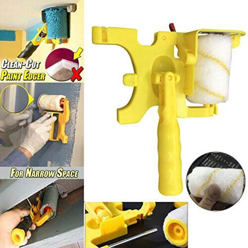 Clean-Cut Paint Edger Roller Brush, multifunktionaler Wandkantengriff Home DIY Tool Kit, für Home Room Wanddecken