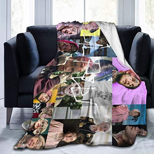 Manta de franela Lil_Peep ultra suave, suave y cálida con impresión digital para niños y adultos