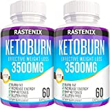 Keto Pills - 3X Potent (2 pack | 120 Capsules) Diet Pills - Help with Energy and Metabolism - Exogenous Keto BHB Supplement for Women and Men
