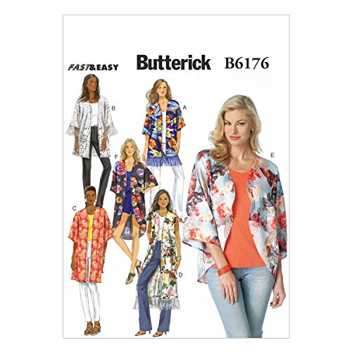 BUTTERICK PATTERNS B6176ZZ0 Misses' Kimono Sewing Template, ZZ (LRG-XLG-XXL)
