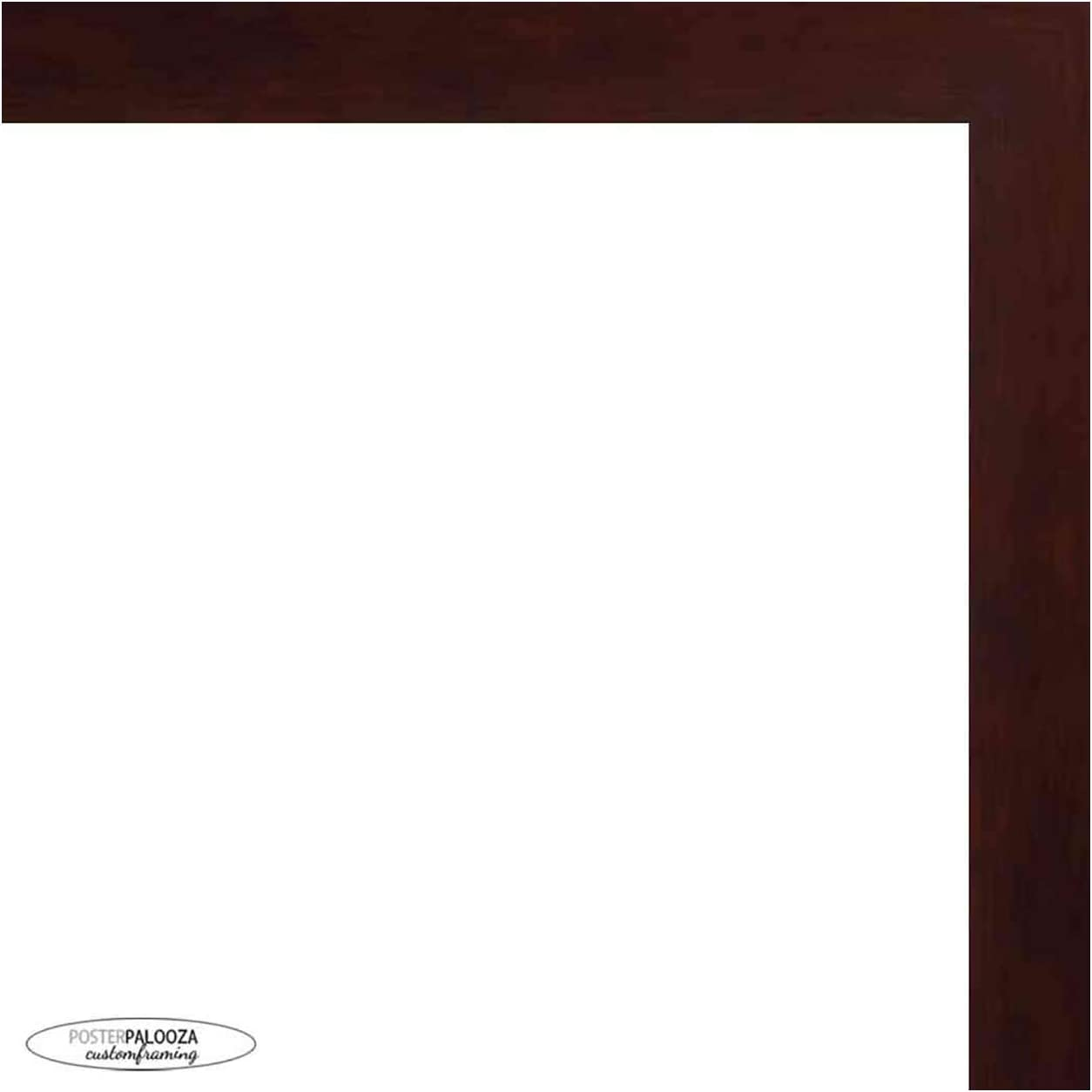 20x40 Inexpensive Boston Mall Traditional Walnut Wood Picture - Acryl UV Frame Panoramic