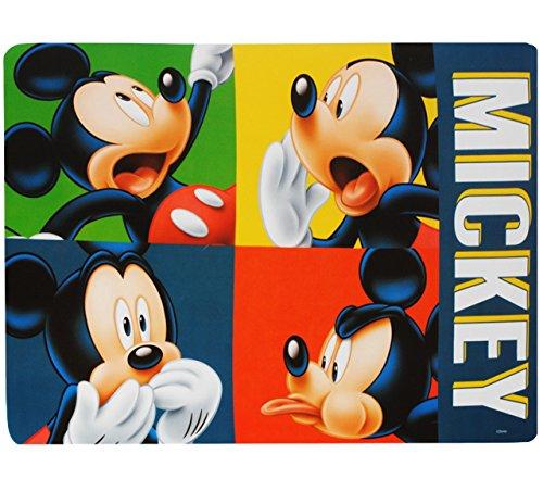 alles-meine.de GmbH 1 Stück _ Unterlage -  Disney Mickey Mouse  - 43 cm * 29 cm - Tischunterlage / Platzset & Tischset - abwischbar - Platzdeckchen / Malunterlage / Knetunterla..