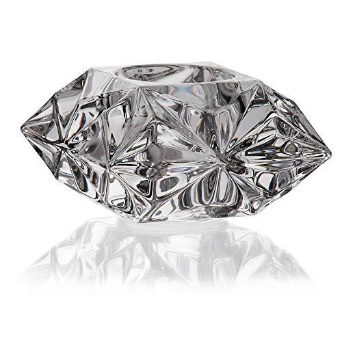 CRISTALICA Kerzenhalter Votiv Teelichthalter Glas Bleikristall 9x9 cm transparent