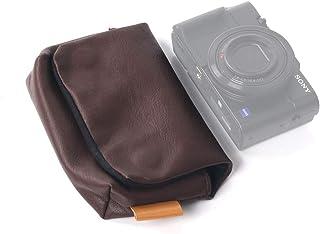 【SONY DSC-RX100M6 / FUJIFILM XF10など収納可能】 ORMY レザー製 デジカメケース デジタルカメラバッグ (ブラウン)