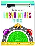 Labyrinthes et jeux - Livre à surface lavable avec un marqueur effaçable