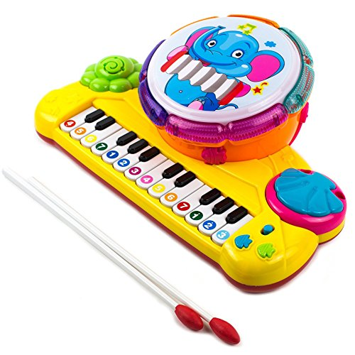 Buy Cheap Toysery Multi-Functional Educational Drum Toy Set for Kids with Two Drumsticks - Piano Toy...