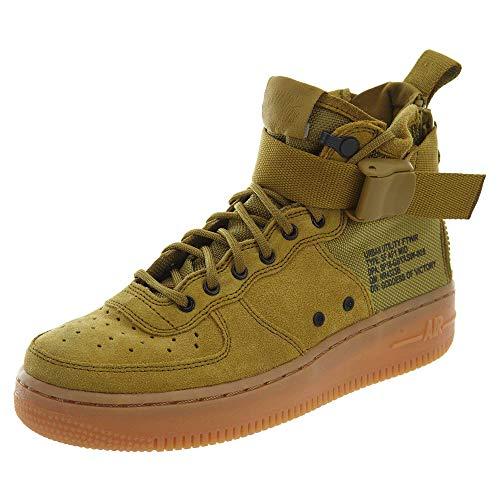 Nike Sf Af1 Mid Boys Shoe Size 6, Color: Desert Moss