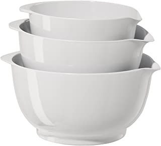 Oggi 3-Piece Mixing Bowl Set, White