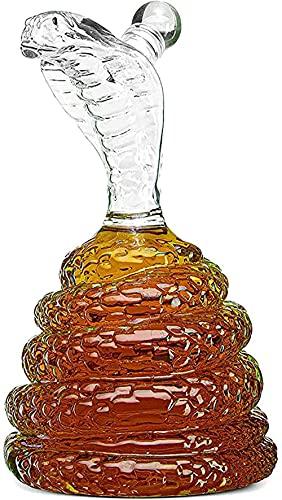 King Cobra Snake - Decantador de whisky para ron, escocés o bourbon