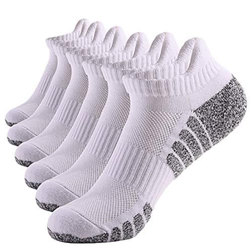 MIUYQ 6 Pares Tubo bajo Tubo Medio Calcetines para Hombre y Mujer, Unisex Basic Transpirables Calcetines de Algodón