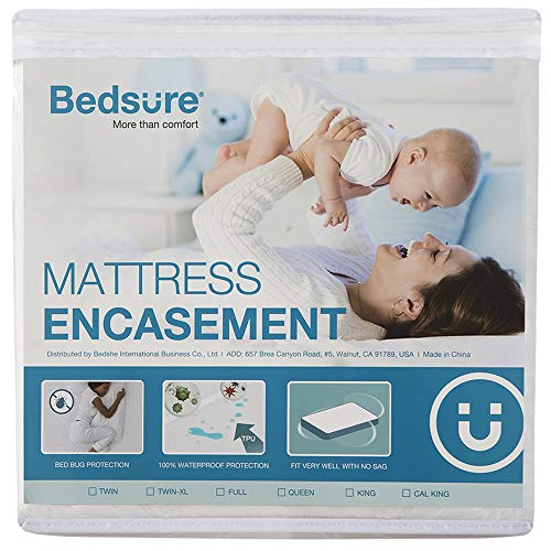 Bedsure Mattress Cover Full Size Mattress Protector Waterproof Zippered Mattress Encasement - Up to 13 inches