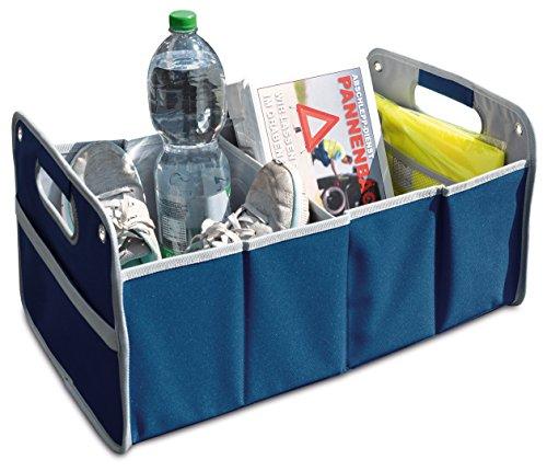 4business Faltbox Klappkorb Klappbox Kofferraumkorb Kofferraumtasche, Blau